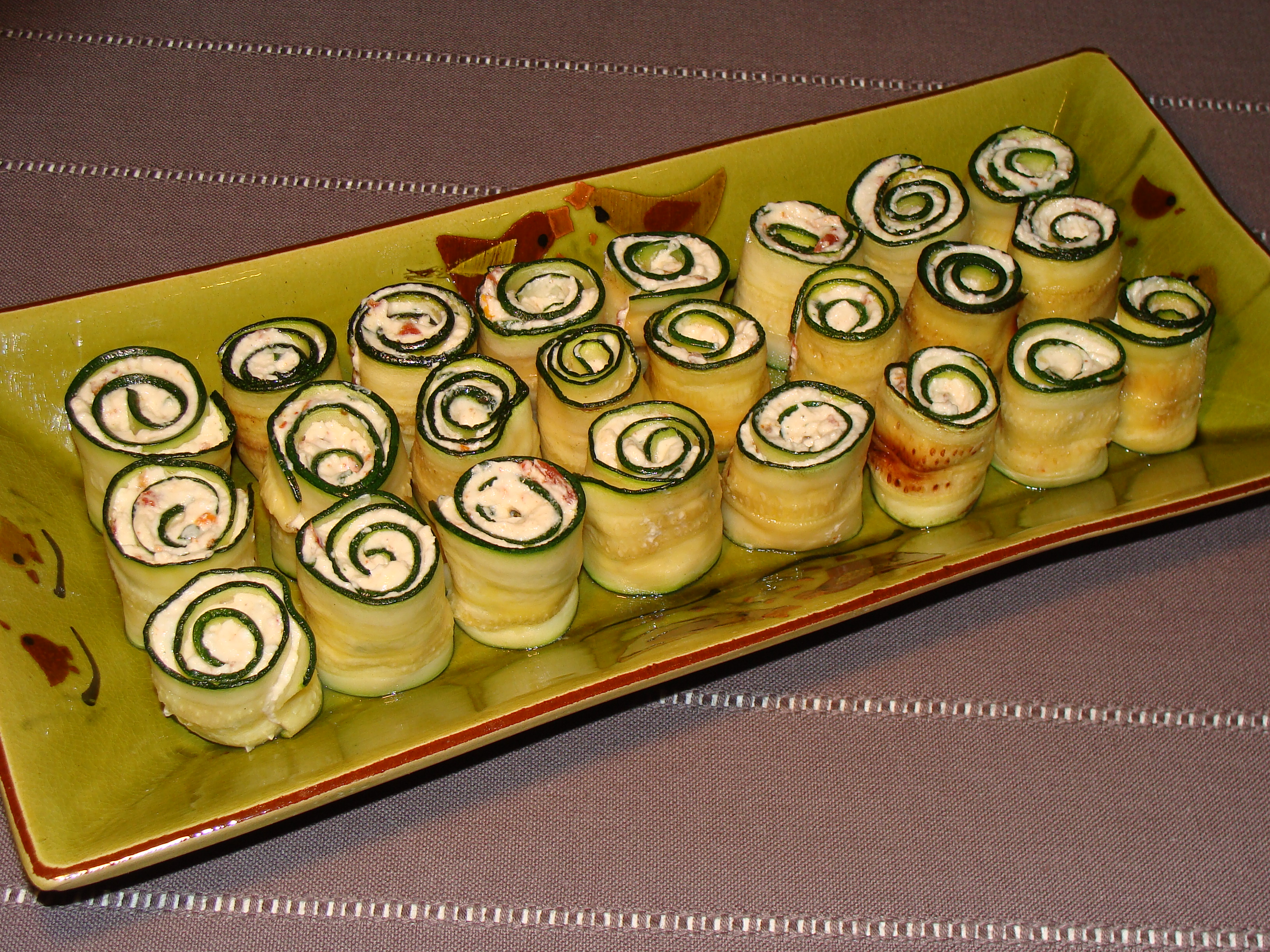 Roulade de courgettes